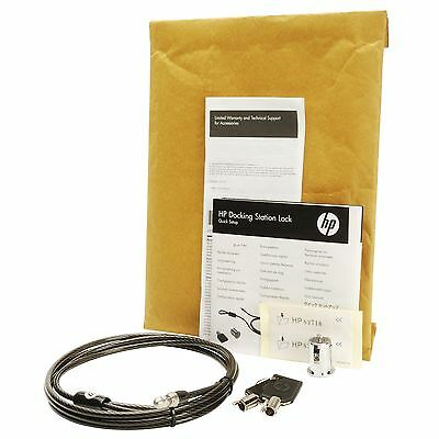 NEW HP AU656AA 2012 Docking Station Security Lock Locking Cable 1.8m 575921-001