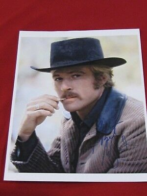 Robert Redford Autographed Color  8 x 10