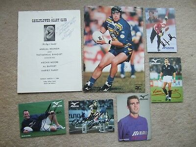 signed promotional mizuno sheet gary schofield leeds england gb rugby league