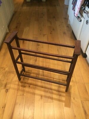 Vintage Arts and Crafts Mahogany Towel Rail