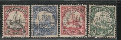 1900 German colony stamps, South West Africa 5pf to 40pf used SC 14-6, 19