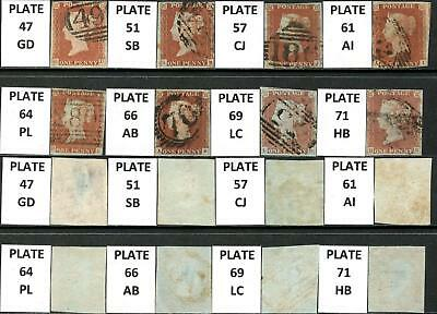 SG 8 1d x 8 Plated 4 Margin Alphabet I Examples. Mixed Condition.