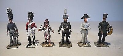 6 assorted 54mm metal figures - Greenwood & Ball / Hinton Hunt