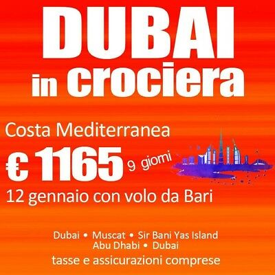 DUBAI In CROCIERA!