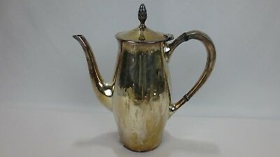 "Antique Gorham Silverplate Pitcher with Lid 3 1/8 Pint 8.5"" tall plus Pinecone"
