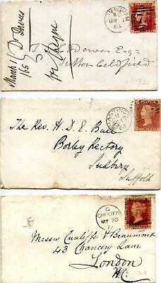 SG43 1d Plates 72, 87, 120 On Covers. Please See Scans
