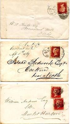 SG43 1d Plates 74, 78, 79 On Covers. Please See Scans