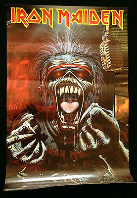 Iron Maiden A Real Live One Original Official Poster 1993