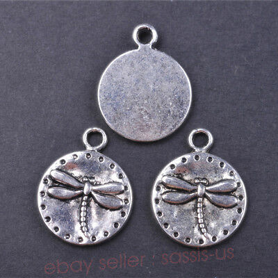 5 Pieces 19*15mm Charms dragonfly Tibetan Silver Metal Charm DIY Pendant 7628A