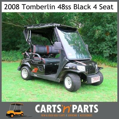 Tomberlin 4 Seat 48ss Black 2008 Golf Cart Buggy Seatbelts, Brand New Trojan Bat