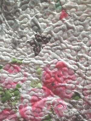 Single Quilted Bedspread Comforter Throw