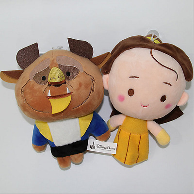 2pcs Original Beauty And The Beast Belle Princess Prince Soft Dolls Plush Toys