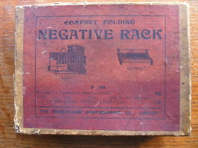 Vintage Photographic Negative Drying Rack. Boxed.  Early 20th c.
