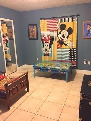 Disney Mickey Mouse and Friends Window Curtain Party Backdrop Fabric