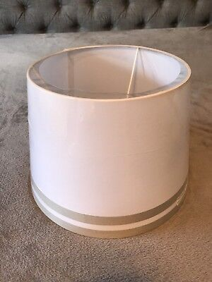Pottery Barn Kids Harper Gray Lamp Shade Drum - New