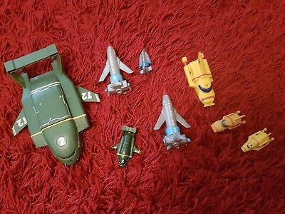 Thunderbirds 1 2 & 4 rockets ships. set.