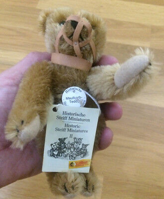 STEIFF - Historic Miniatures II - Muzzle Teddy Light Brown 16cm with tags 029196