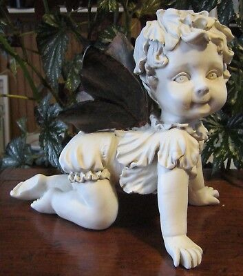 New Baby Fairy Crawling Figurine. Indoor or Outdoor.