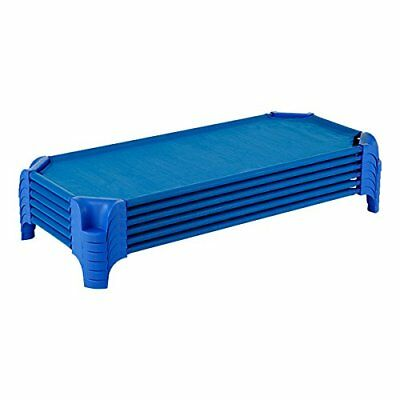 "Sprogs SPG-16137-BL-SO Heavy-Duty Stackable Daycare Cot Standard, 5"" Height, 23"""