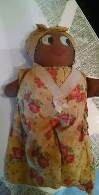 Vintage Black Americana Homemade Fabric Doll Collectible