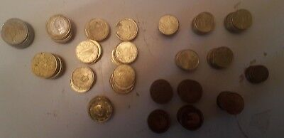 ***euro Change, Left Over Holiday Money Coins, Total 40+ Euros