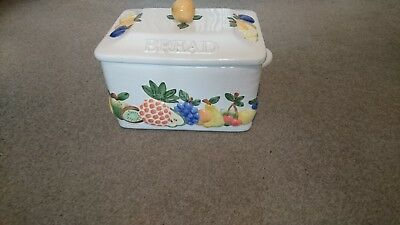 Rayware bread bin with fruit design