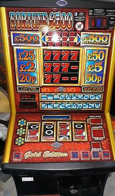 Fortune 500 gold fruit machine accepts new £1 coin (permit number 005955)