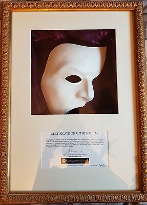 The Phantom of the opera framed limited edition mask with CoA