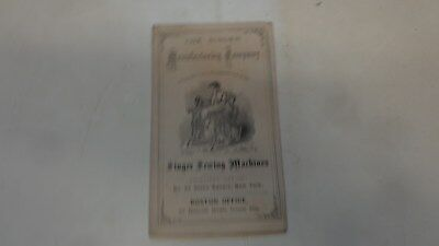 c.1870s Singer Sewing Machines Booklet