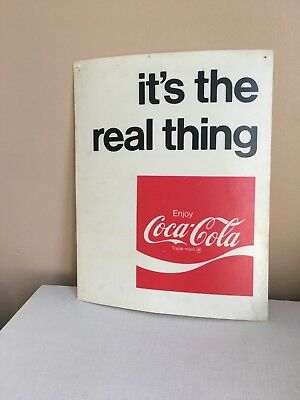 Vintage Coke Advertising Coca Cola Sign Pepsi-Cola its the real thing