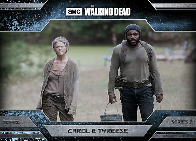 Topps Walking Dead Allegiance Series 2 Carol and Tyreese ICE VARIANT