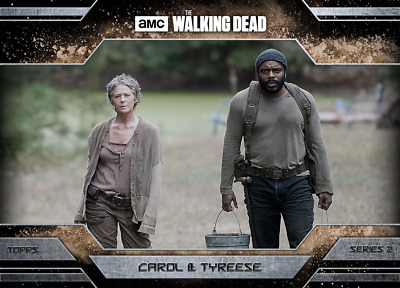 Topps Walking Dead Allegiance Series 2 Carol and Tyreese DUST VARIANT