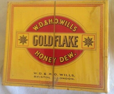 vintage  wills gold flake honey dew 20 cigarette  packet + contents