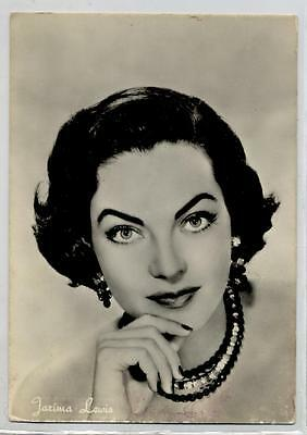 JARIMA LEWIS Cinema Star 1960 ITALY Real Photo PC Vera foto Attrice