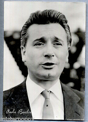 PAOLO BACILIO Attore Cinema PC Film Star Cinecittà Circa 1950s