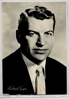 RICHARD EGAN Cinema Star Attore 1960 ITALY Real Photo PC Vera foto