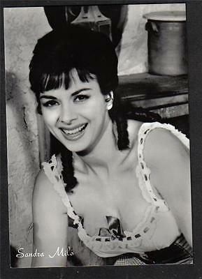 SANDRA MILO Cinema Star circa 1960 ITALY amazing Real Photo PC Vera foto