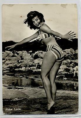 ABBE LANE Sexy Cinema Star 1960 ITALY Real Photo PC Vera foto Attrice