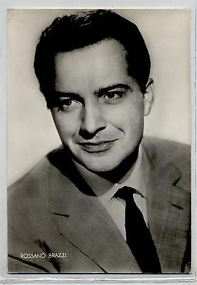 ROSSANO BRAZZI Cinema Star Attore 1960 ITALY Real Photo PC Vera foto