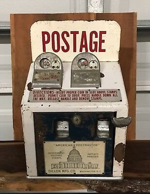 vintage coin operated stamp machine. Countertop stamp dispenser. Good condition!