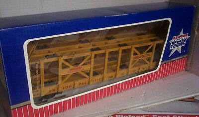 """G GAUGE USA TRAINS Ref 17216 Twin Deck Auto Carrier """"UNION PACIFIC""""  Boxed"""