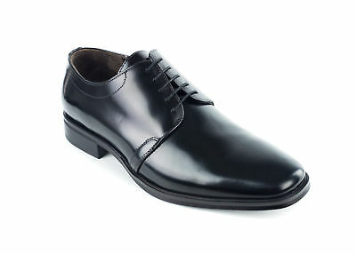 Bruno Magli Men's Santiago Black Leather Derby's Oxfords US9~RTL$450