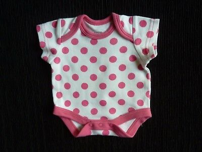 Baby clothes GIRL premature/tiny<7lb/3.2k short sleeve spot bright pink bodysuit