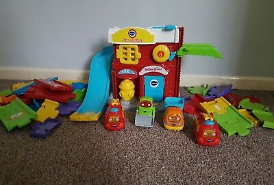 Vtech toot toot drivers fire station, track and vehicles.