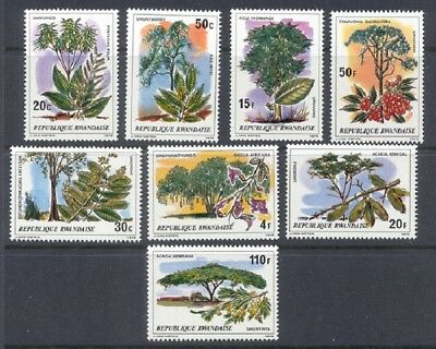 Rwanda Sc# 915-922 Nature And Plants Mnh