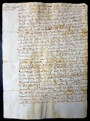 France Revenue 1625 Very old notarial deed -Beautiful handwriting and signatures