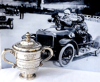 Historic Sterling Silver Motor Racing Cyclecar Trophy Cup. Brooklands Aug 1913.