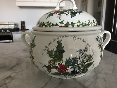 "PORTMEIRION  ""The Holly & The Ivy""  Large Cookie Jar - Soup Tureen"