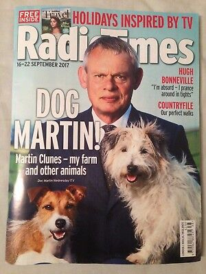 Radio Times magazine 16-22 September 2017 Doc Martin Clunes (1st CLASS POST)
