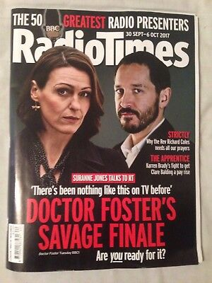 Radio Times magazine 30 September - 6 October 2017 Doctor Foster, 1st CLASS POST
